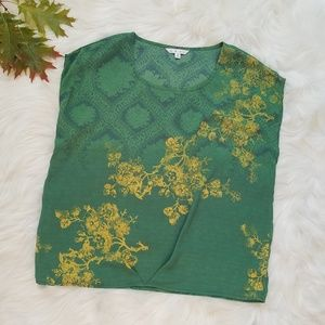 CAbi Green with Envy #597 Boxy Chiffon Top Shirt